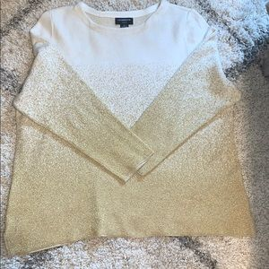Gold shimmer sweater